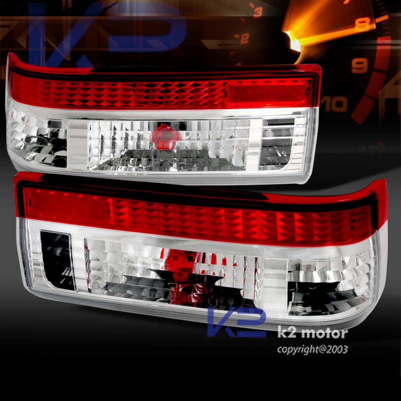 83 87 Toyota Corolla Ae86 Hatchback Red Clear Tail Lights