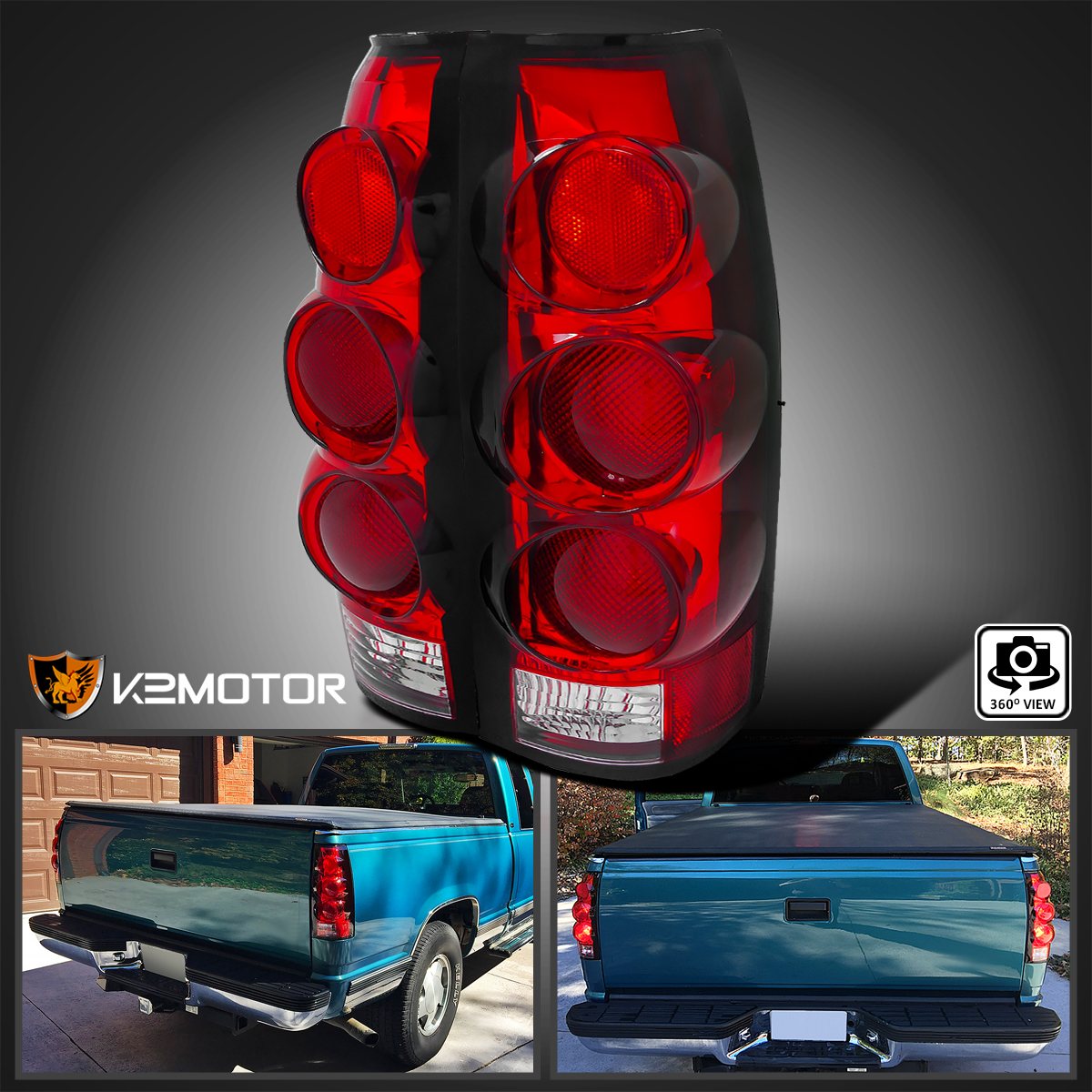 1988 1998 Chevy Gmc C10 Ck Truck Red Lens 3d Tail Lamps