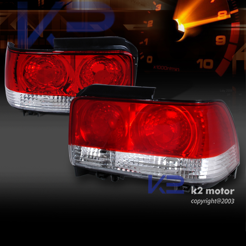 93 97 toyota corolla jdm tail lights rear brake lamp red. Black Bedroom Furniture Sets. Home Design Ideas