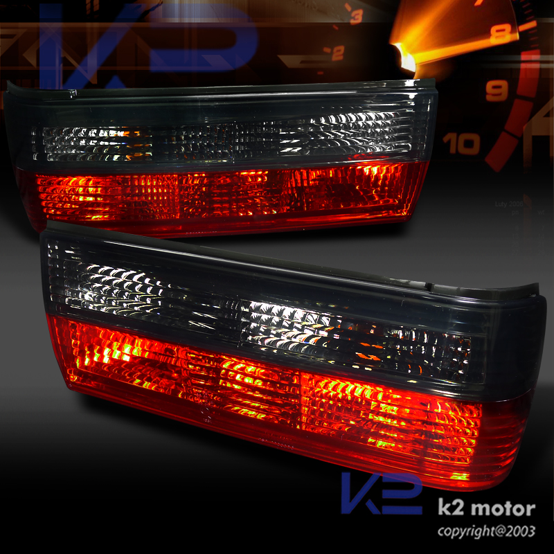 Euro Smoke Red 83 87 Bmw E30 325i 325is Tail Lights Brake