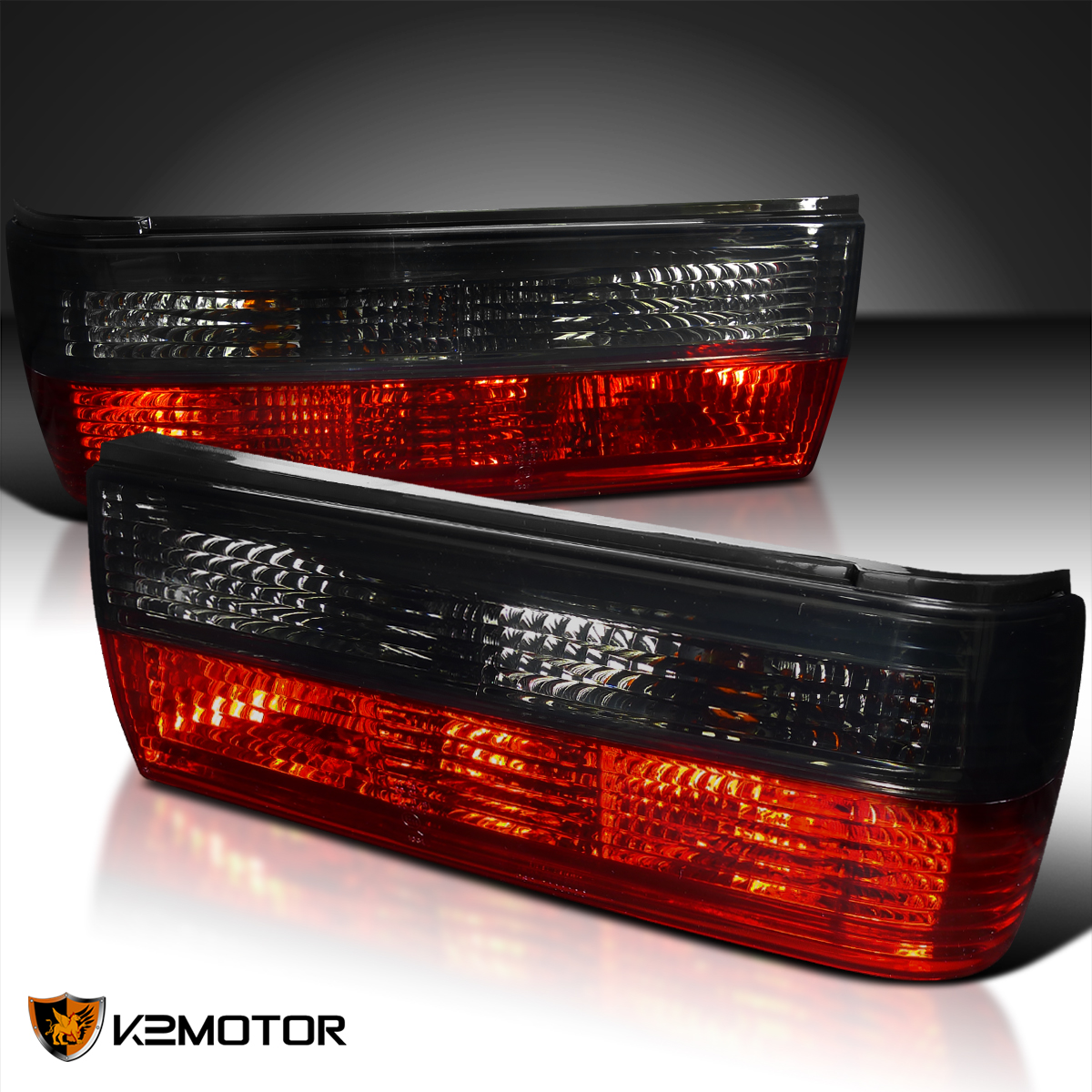 88 91 Bmw E30 325i 325is 325ix Red Amp Smoke Lens Tail
