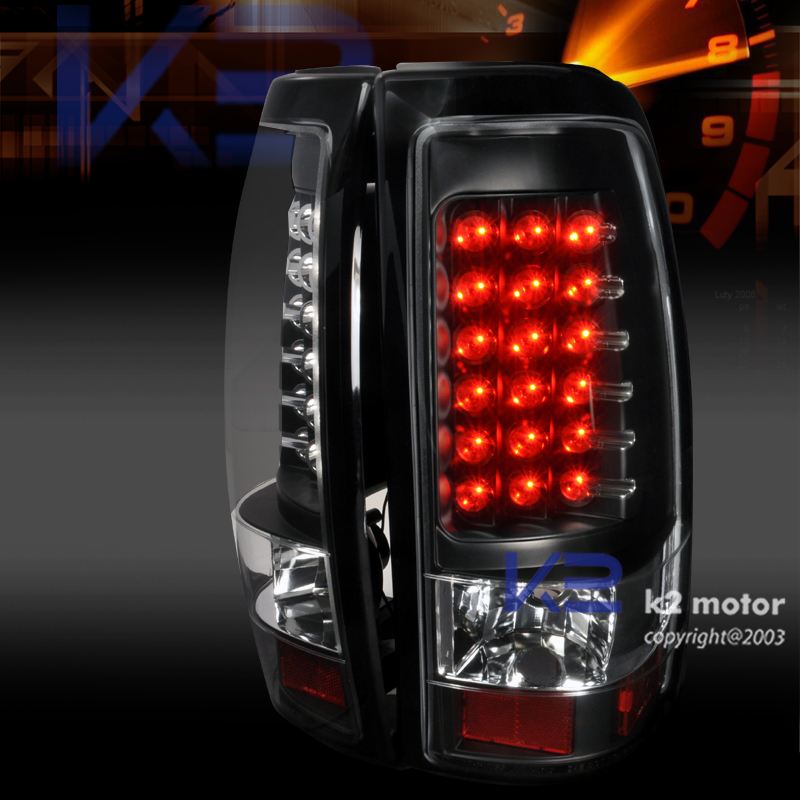 led 2003 2006 chevy silverado 1500 tail lights lamp blk ebay. Black Bedroom Furniture Sets. Home Design Ideas