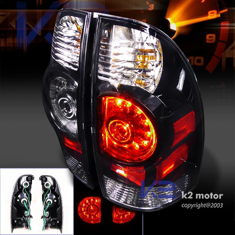 Depo Euro Black 0515 Toyota Tacoma Tail Lights Altezza LED