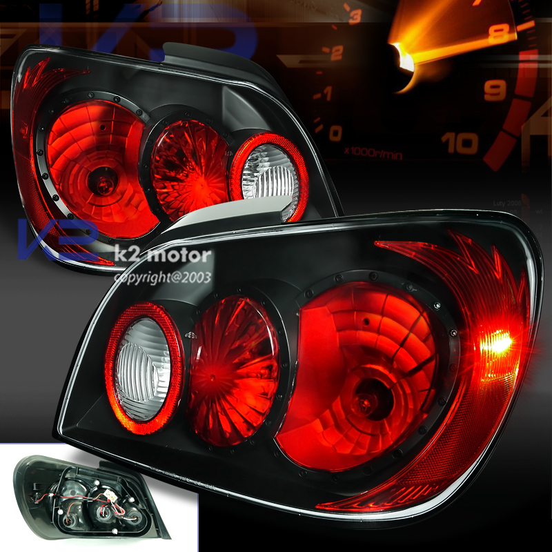 2002 2003 Subaru Impreza Sedan Led Tail Light Black Rear