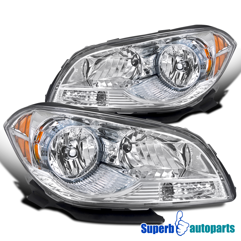 2008-2012 Chevy Malibu Headlights Diamond Head Lamps LH+RH