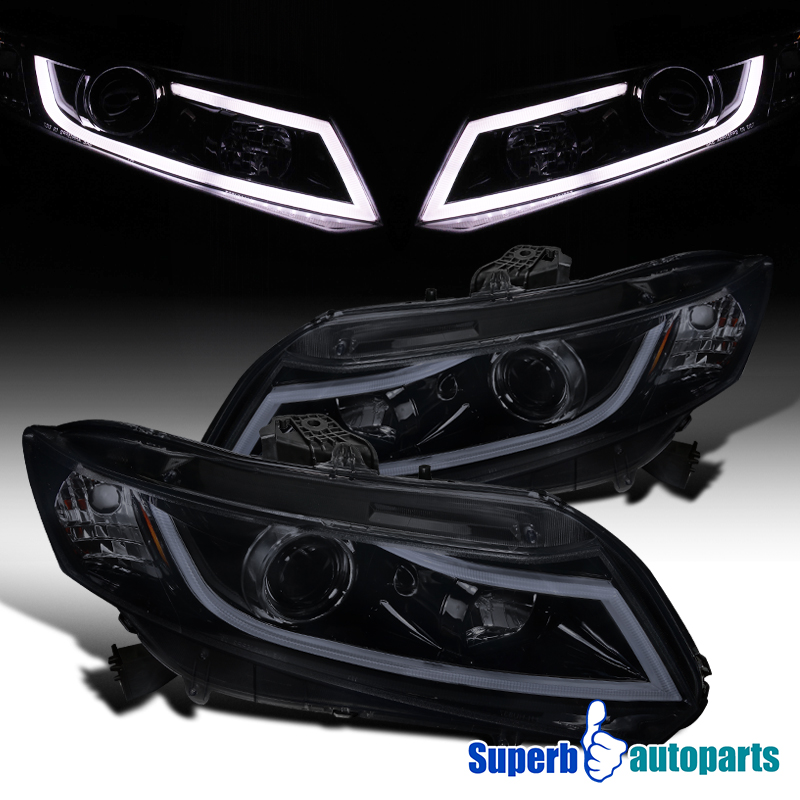 for 2012 2015 honda civic 2 4d projector headlight w led. Black Bedroom Furniture Sets. Home Design Ideas