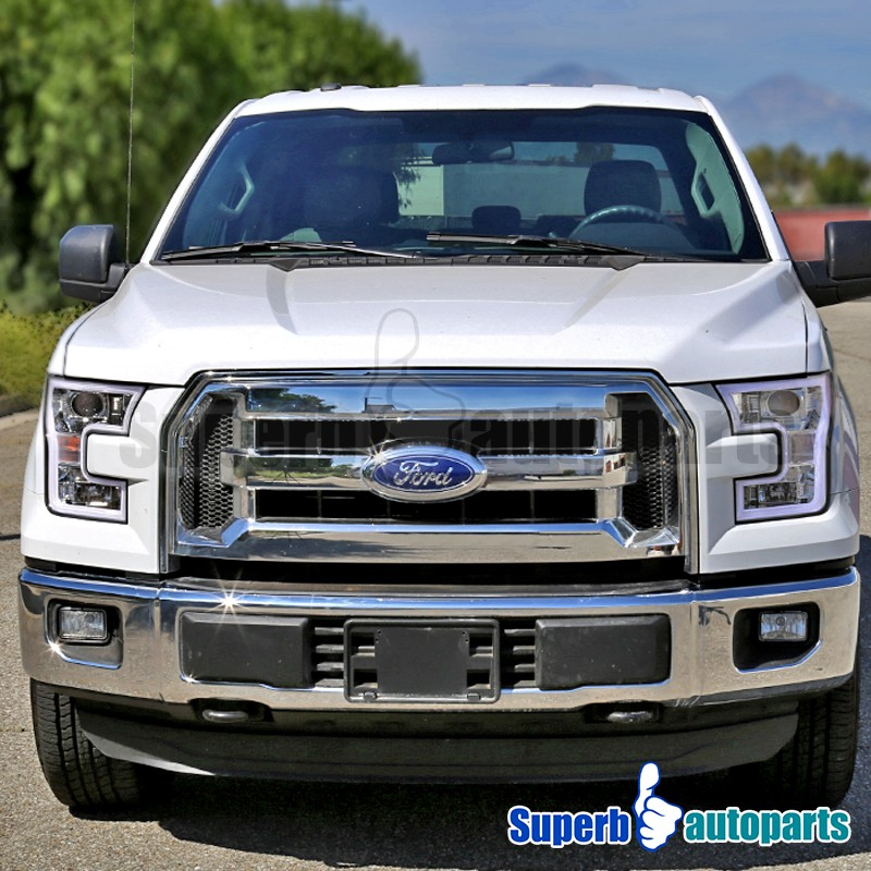 2015 2017 ford f150 chrome housing led light bar projector. Black Bedroom Furniture Sets. Home Design Ideas