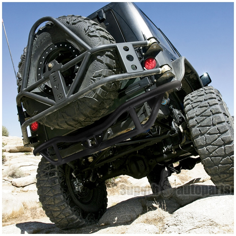 Jeep Grill Guards And Bumpers : Jeep wrangler jk black rock crawler tubular rear