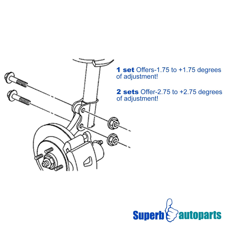 14mm front alignment camber kit suspension adjuster bolt