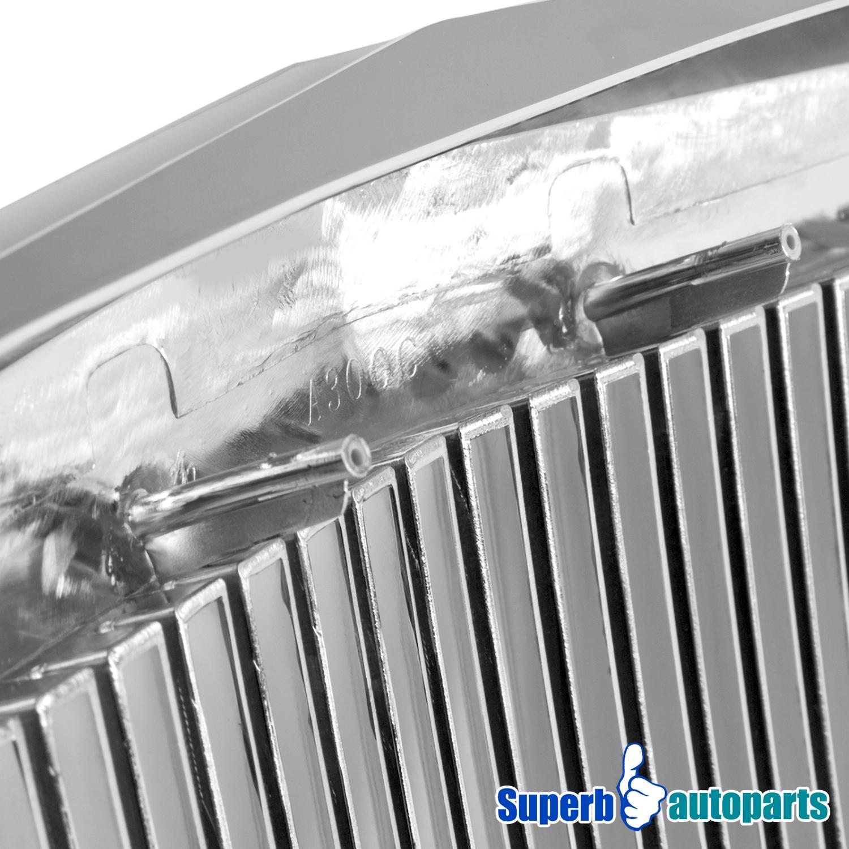 2005 2010 Chrysler 300 300c Shinny Black Vertical Front: 2005-2010 Chrysler 300 300C Phantom Vertical Grill Chrome