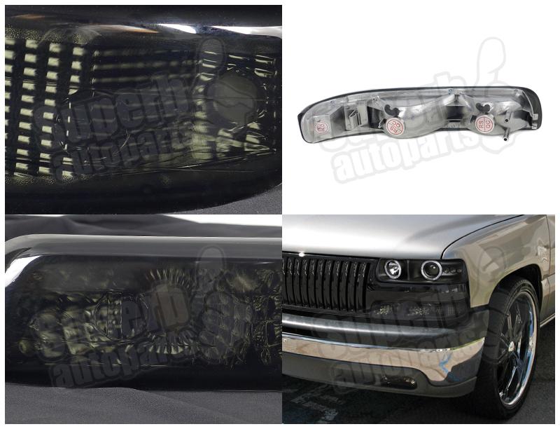 1999 2002 chevy silverado bumper lights signal ls 00 06 suburban tahoe smoke ebay