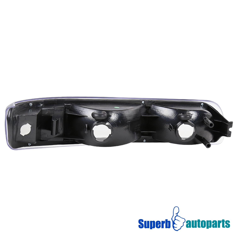 1999 2002 chevy silverado halo led headlights bumper ls black tahoe suburban ebay