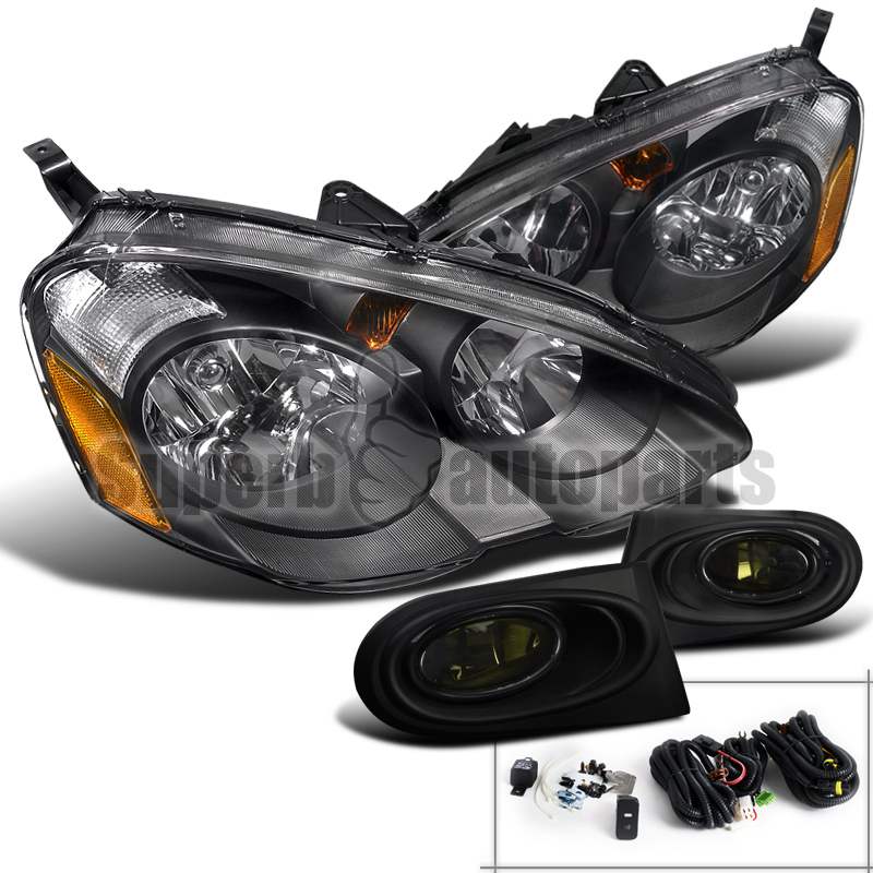 2002-2004-Acura-RSX-Diamond-JDM-Headlights-Black-Type-S