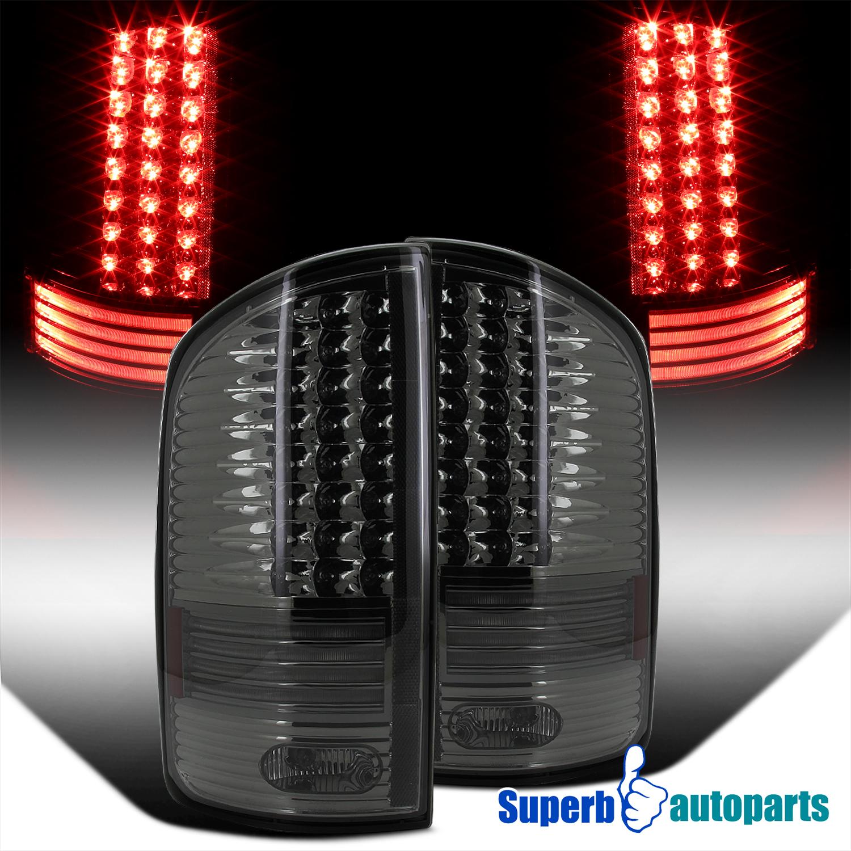 2002 2006 dodge ram 1500 2500 3500 led tail lights brake lamp smoke. Black Bedroom Furniture Sets. Home Design Ideas