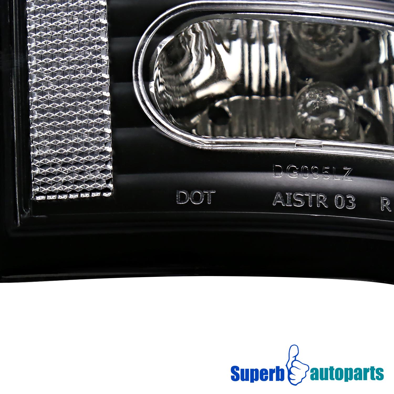 2006 dodge ram 1500 2500 3500 black clear lens led tail brake lights. Black Bedroom Furniture Sets. Home Design Ideas