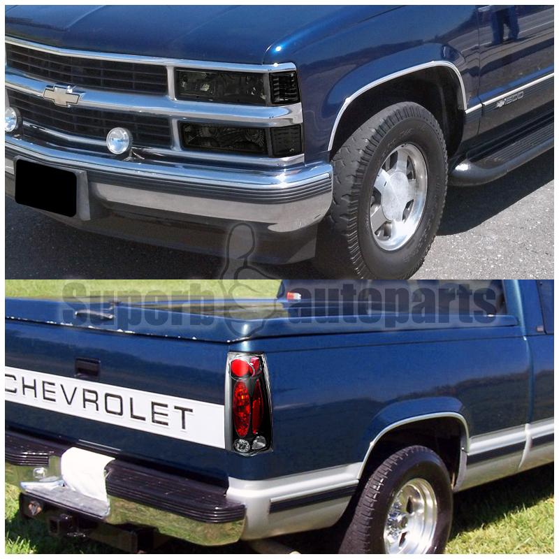 1994 1998 chevy c k silverado smoke headlights bumper. Black Bedroom Furniture Sets. Home Design Ideas