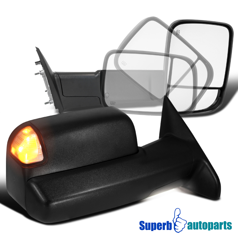 2009 2012 Dodge Ram 1500 Power Heat Flip Up Tow Mirrors