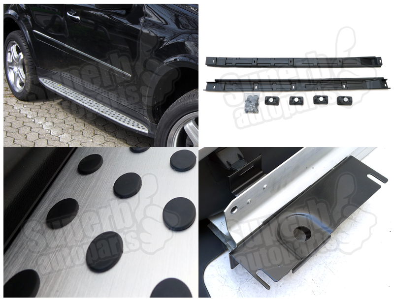 2006 2011 mercedes benz w164 ml320 350 500 nerf side step for 2009 mercedes benz ml350 running boards
