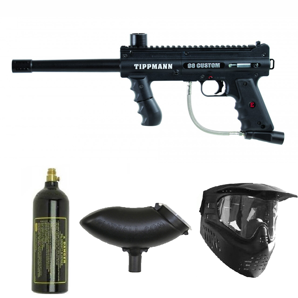 ... about Tippmann Platinum 98 Custom Paintball Marker Gun 3Skull Package