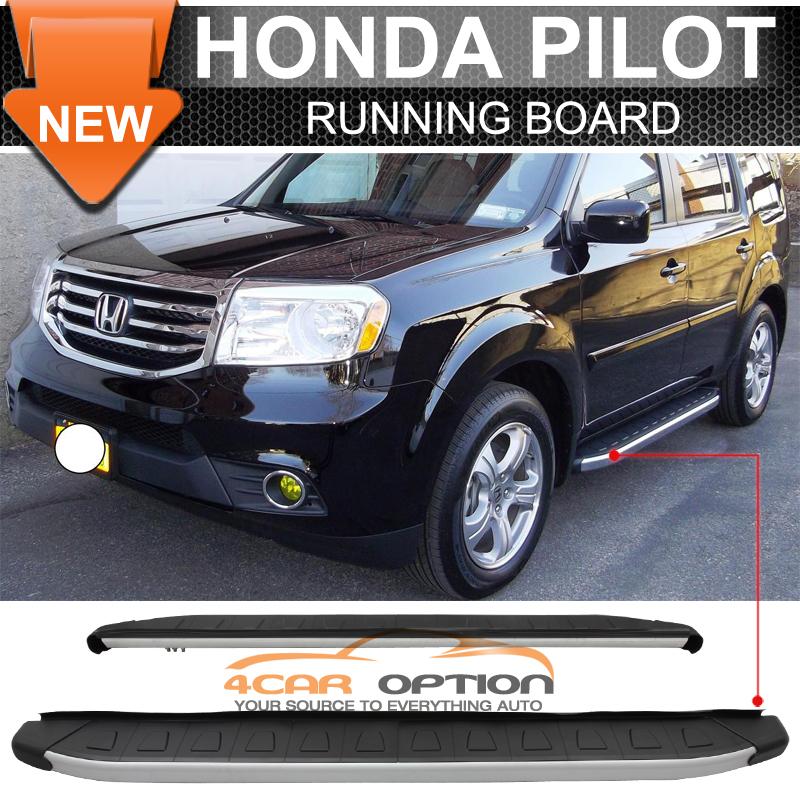 09 15 Honda Pilot Running Board Side Step Rail Bars Black