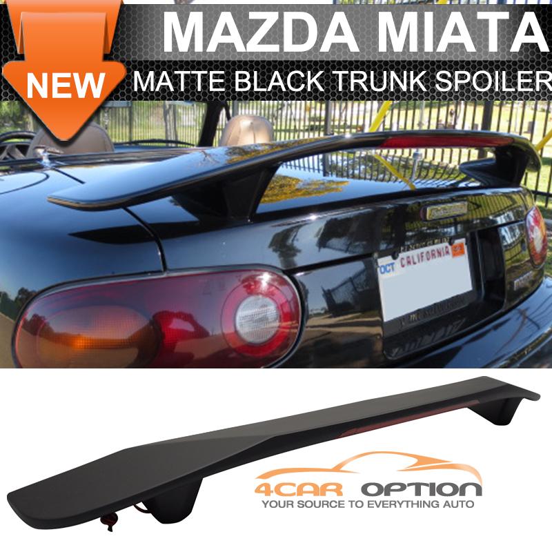 Dodge Dynasty Non Abs 1988 1993 Power Brake: Fit 1990-2005 Mazda Miata Mx5 Matte Black Trunk Spoiler