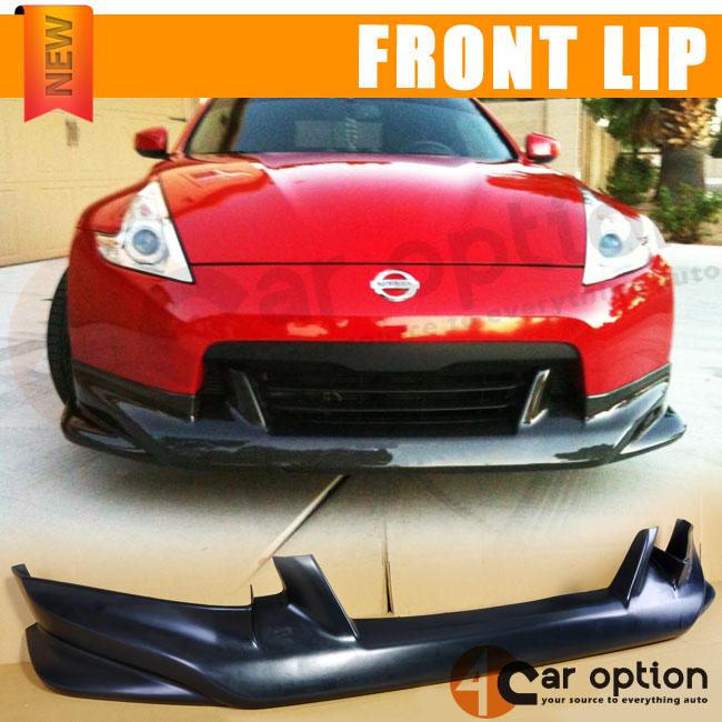 09 12 Nissan 370Z N Style Poly Urethane Black Front Bumper Lip Spoiler Bodykit