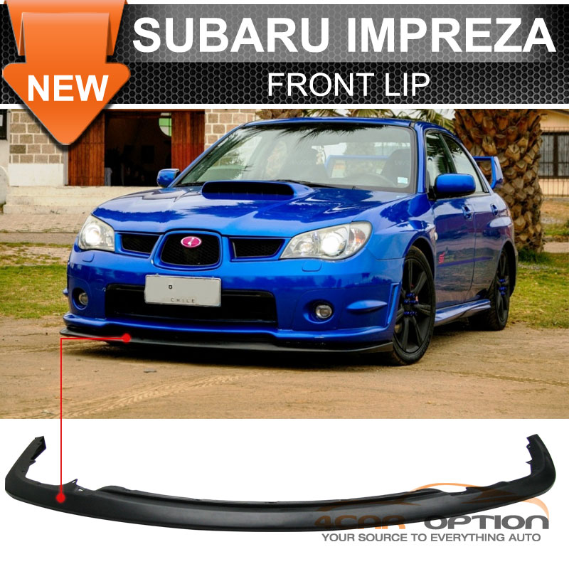 fits for 06 07 subaru impreza wrx sti style front rear. Black Bedroom Furniture Sets. Home Design Ideas