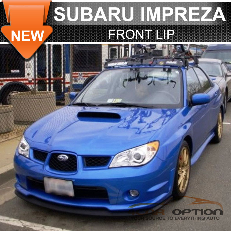 fits for 06 07 subaru impreza wrx sti style front rear bumper lip spoiler pu ebay. Black Bedroom Furniture Sets. Home Design Ideas