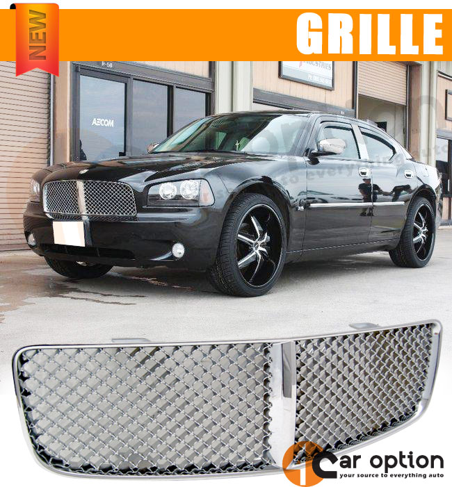 08 Dodge Charger For Sale: 06-10 Dodge Charger Mesh Chrome Front Grille