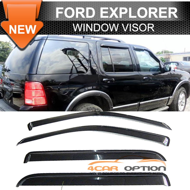 02 10 ford explorer 4dr 03 05 aviator 4dr sun window visor for 2002 ford explorer rear window struts