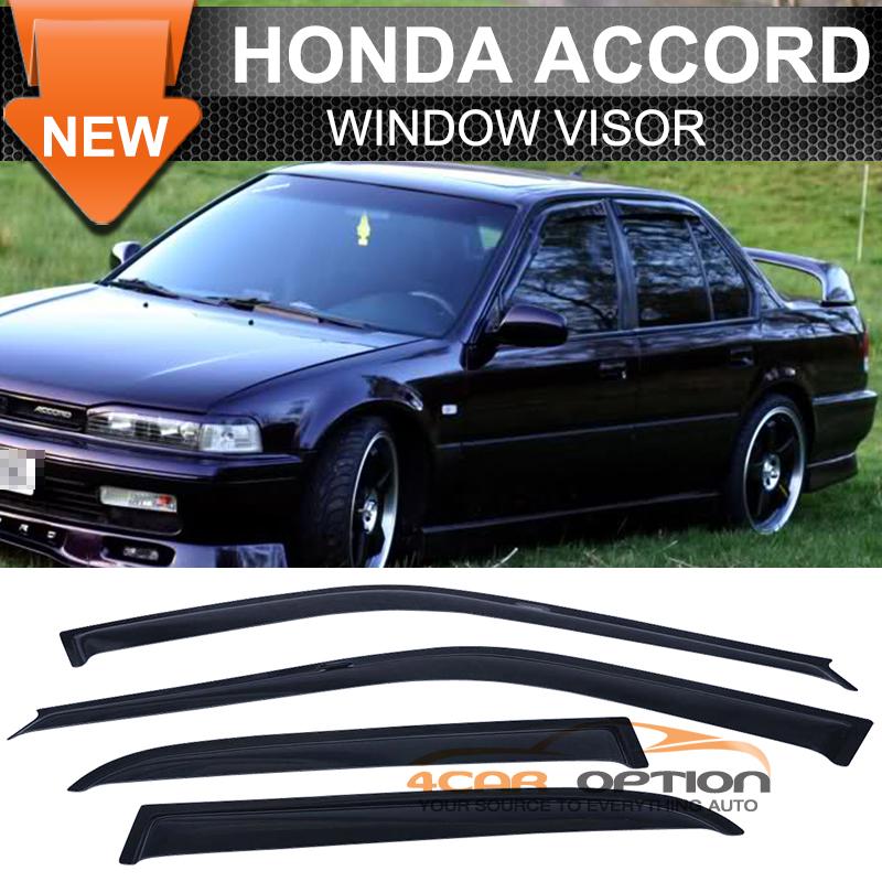 Fit 90 93 honda accord 4 door sun window visor dark smoke for 2003 acura tl window visor