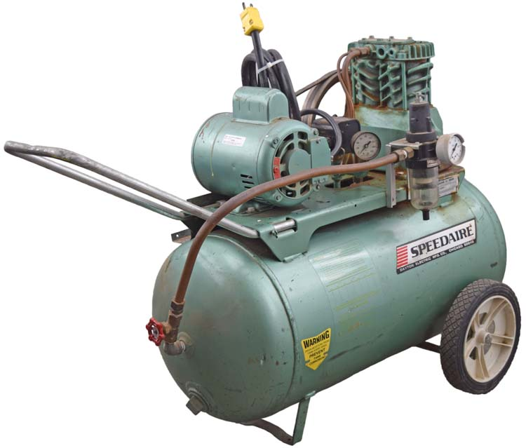 Speedaire 3z406d industrial air compressor w dayton 9k322j for Dayton air compressor motor