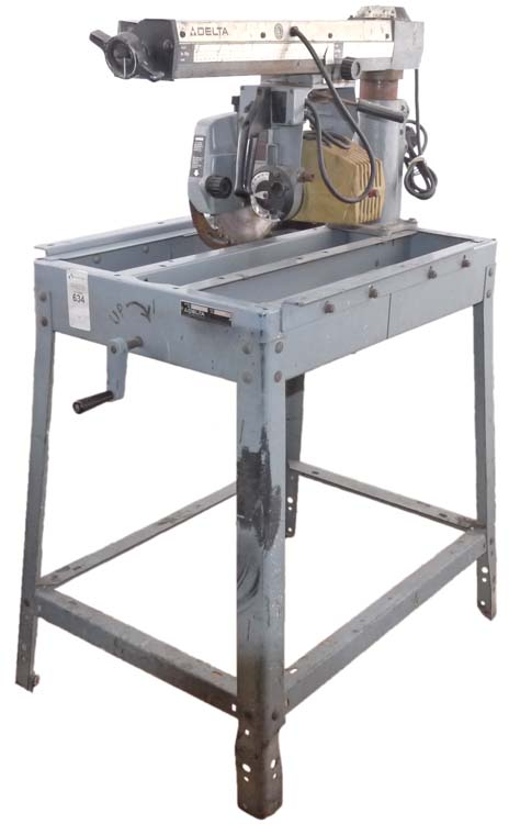 Delta Model 10 Deluxe Radial Arm Table Saw With Automatic Brake 10 Blade Parts Ebay