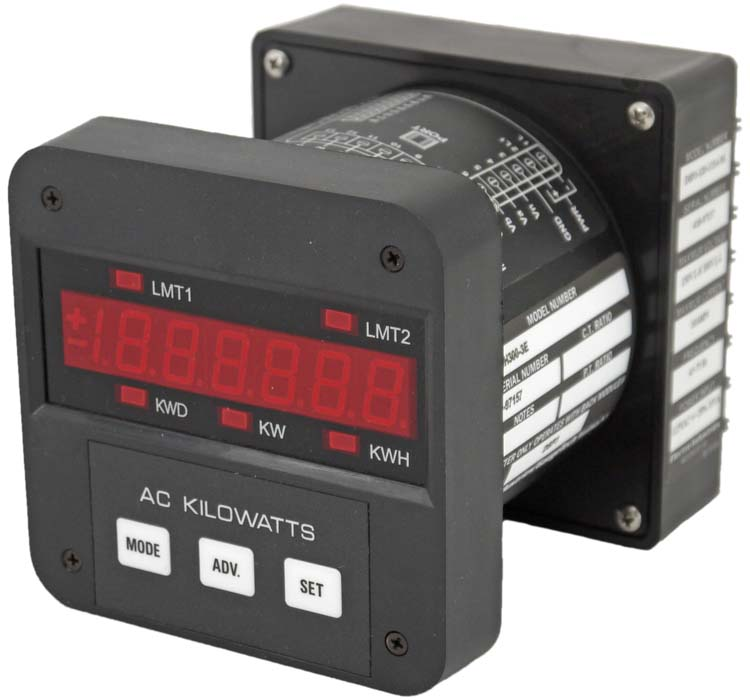 Power Demand Meter : Electro gaugetech dmwh e phase solid state energy