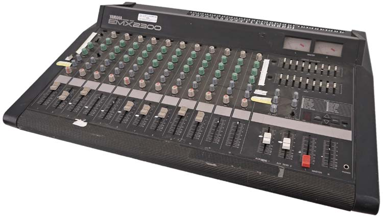 Yamaha emx2300 12 channel powered live studio mixer for Yamaha mixer replacement parts