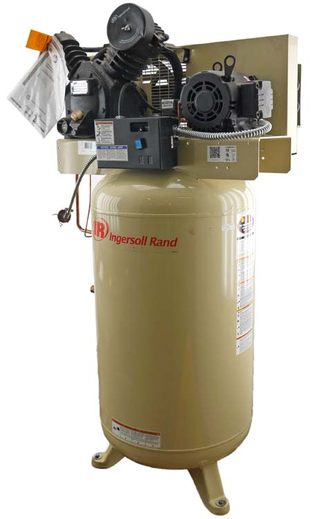 Ingersoll rand 2475n5 p grainger 2 stage cast iron pump for Ingersoll rand air compressor electric motor