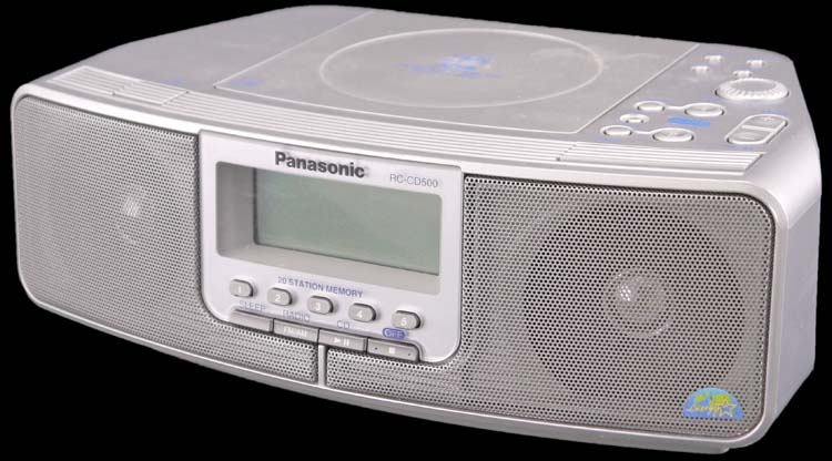 panasonic rc cd500 digital 5 preset cd player alarm clock am fm stereo radio ebay. Black Bedroom Furniture Sets. Home Design Ideas