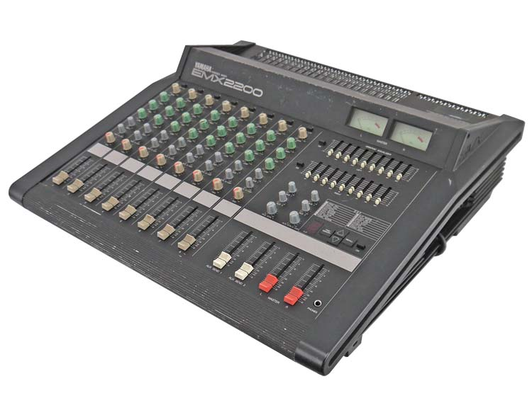 Yamaha emx2200 8 ch 250w powered stereo studio pro audio for Yamaha mixing boards