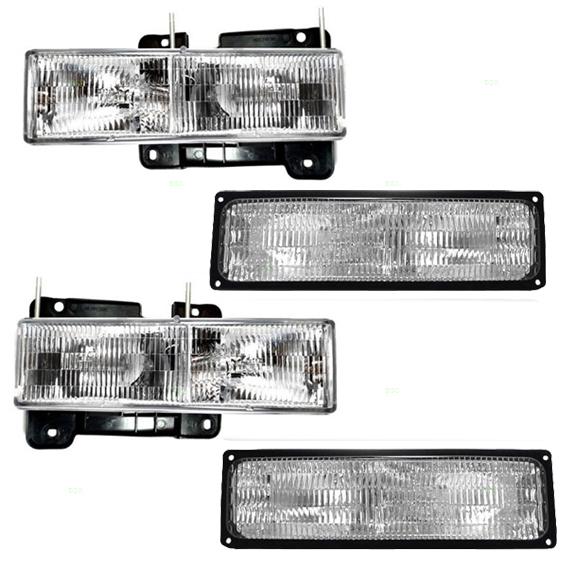 Set Headlight Signal Marker Light SAE DOT Chevrolet GMC Pickup Truck