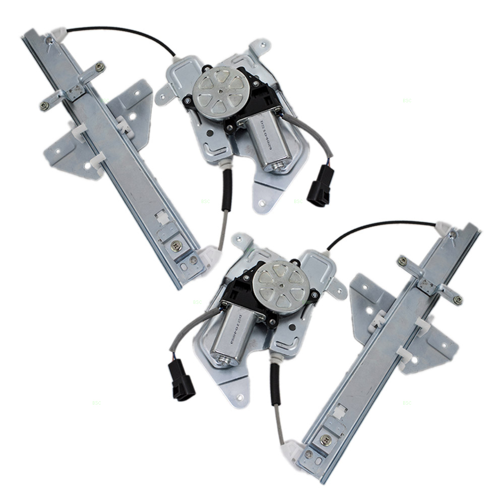 New pair set rear window regulators with motors for 2002 oldsmobile alero window regulator