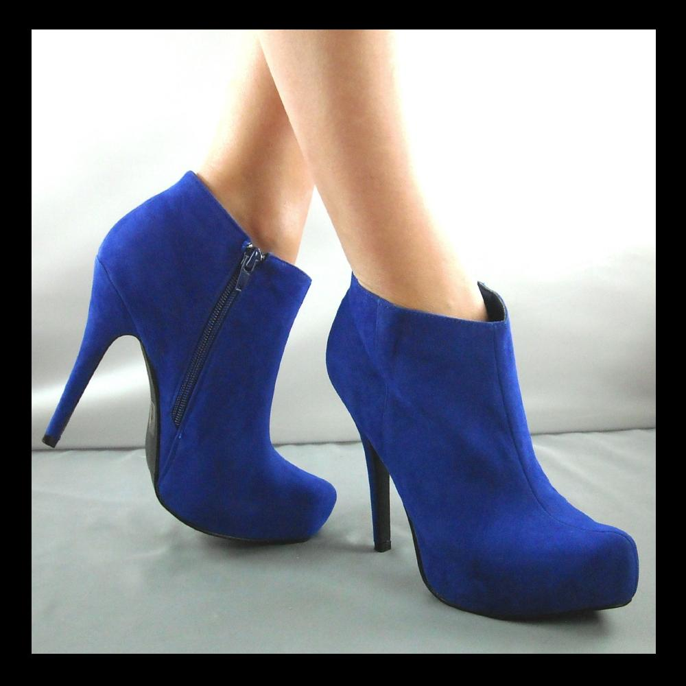 Sexy Blue Rose Pointy Round Toe Thigh High Boots Chunky Heel Faux Suede These sexy and stylish thigh high heel boots are a perfect fit to wear on top of some cute leggings and .