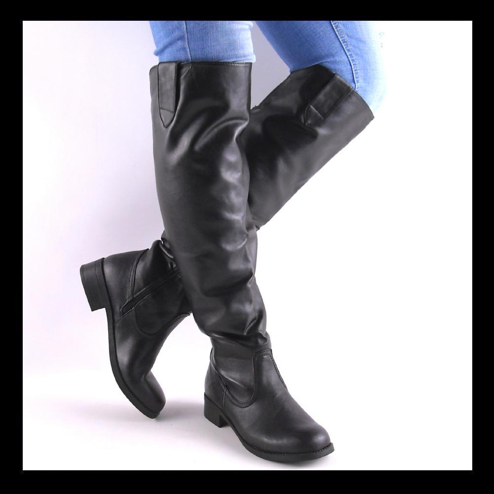 new black knee high womens boots ebay