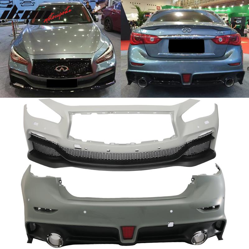 2017 Infiniti Q50 Interior: Fits 14-17 Infiniti Q50 V2 Eau Rouge ER Style PP Front