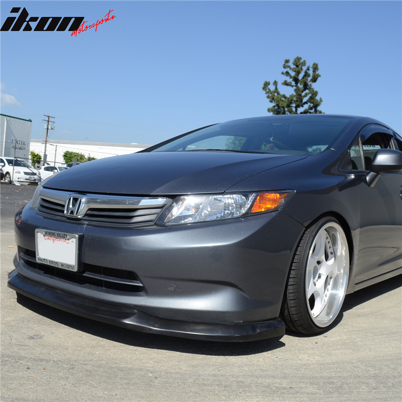 only 2012 honda civic 4 door sedan ikon front bumper lip. Black Bedroom Furniture Sets. Home Design Ideas