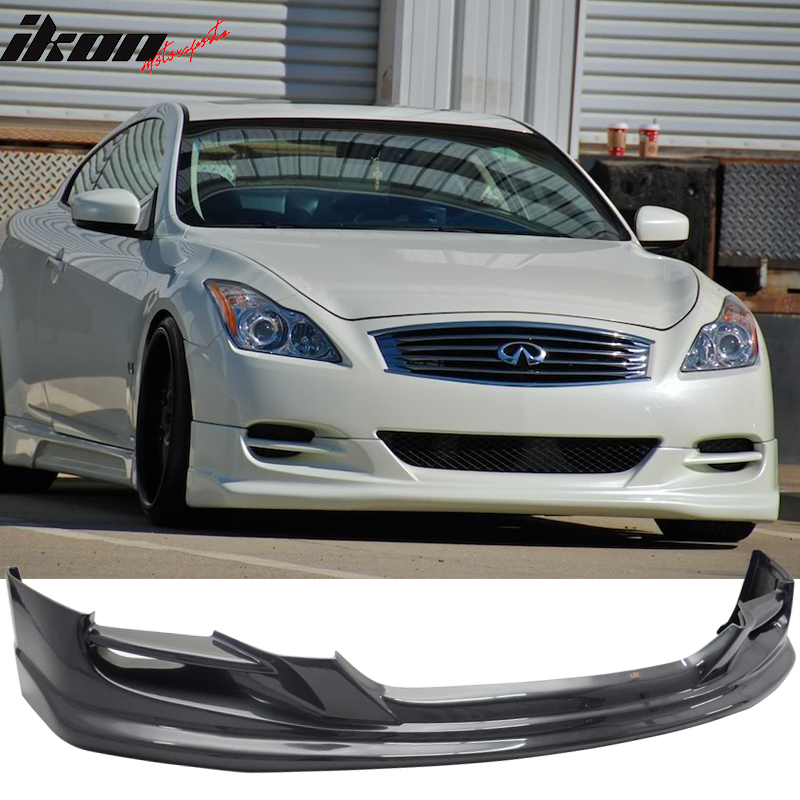 Fit 08 14 Infiniti G37 2dr Coupe Ts Style Front Bumper Lip