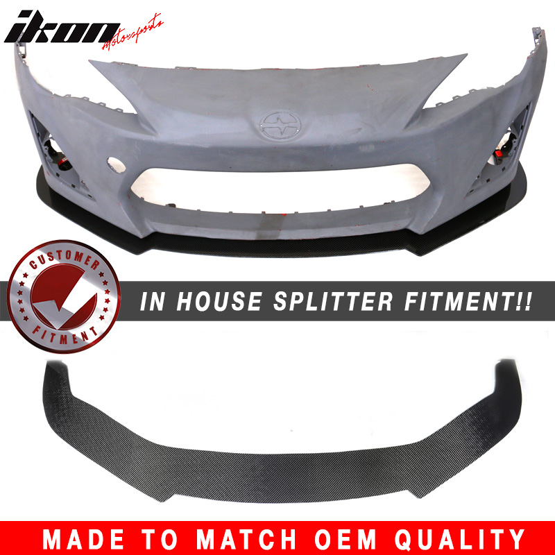 For 13 16 Scion Frs Subaru Brz V1 Front Carbon Fiber Cf