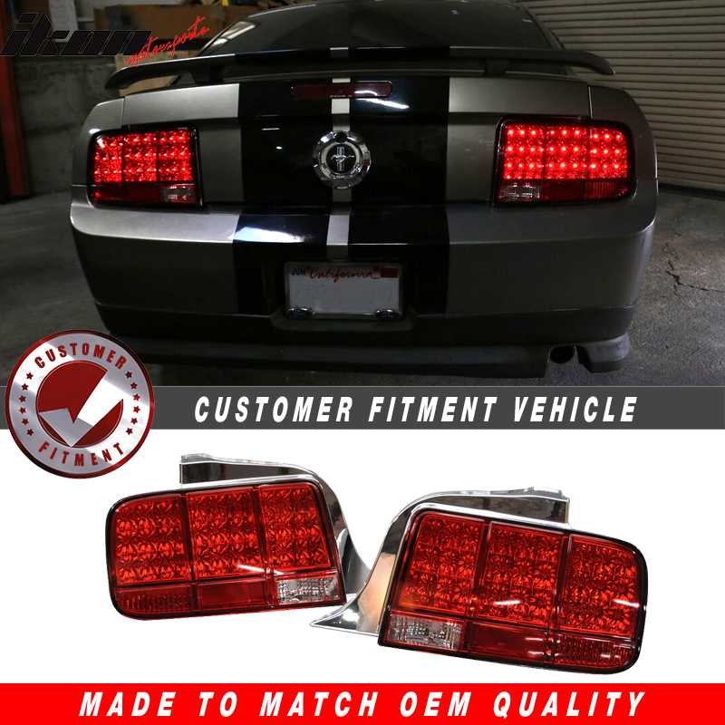 05-09 Ford Mustang Red Led Tail Lights