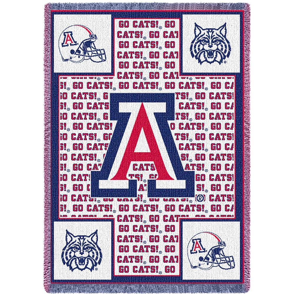 Arizona Wildcats Throw Blanket Woven