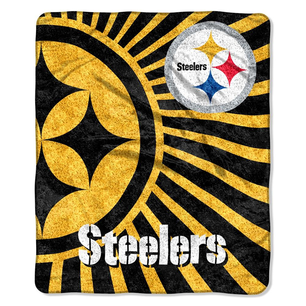 Northwest Pittsburgh Steelers Sherpa 50 x 60 Jersey Throw Blanket at Sears.com