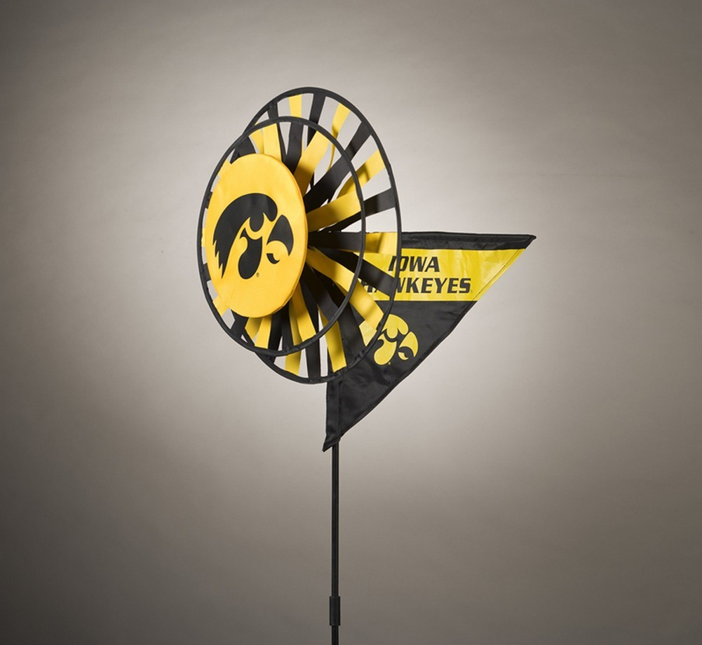 Iowa Hawkeyes Yard Decoration- Windmill Spinner